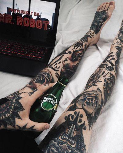 "stayxclassy: ""Hope it's dope. Mr.Robot season 2 🎬🤖💯 #mrrobot #tattoo #ink #inked #tattoos #traditionaltattoo #vscocam """