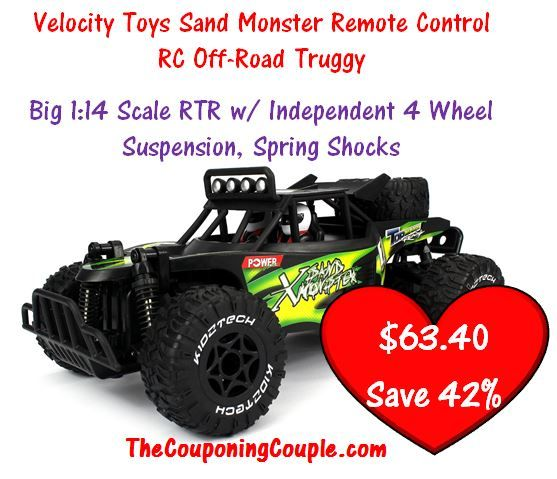 HOT DEAL on this Velocity Toys Sand Monster Remote Control RC Off-Road Truggy! Only $63.40 with FREE Shipping! Save $46.39 right NOW! You never know how long this low price will last! Click the link below to get all of the details ► http://www.thecouponingcouple.com/velocity-toys-sand-monster-remote-control-rc-off-road-truggy-hot-deal/  #Coupons #Couponing #CouponCommunity  Visit us at http://www.thecouponingcouple.com for more great posts!