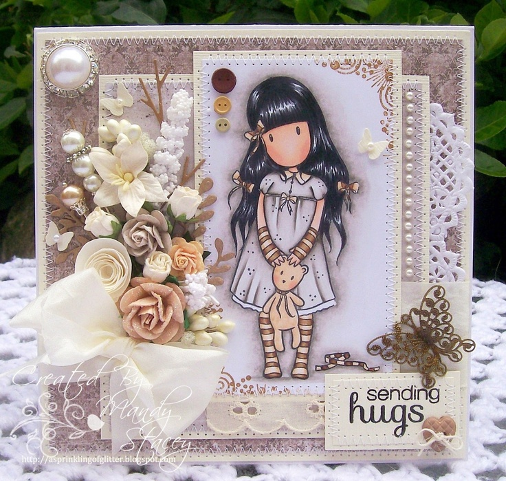 A Sprinkling of Glitter: Gorjuss Hugs & More Bees! - Addicted To Stamps & Simon Artist Group DTs... too cute and im loving the new Gorjuss girly designs xNx