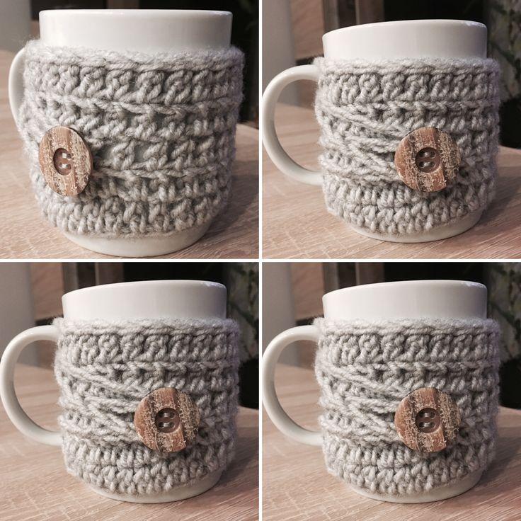 Coffee mug cozy crochet || ocieplacz na kubek