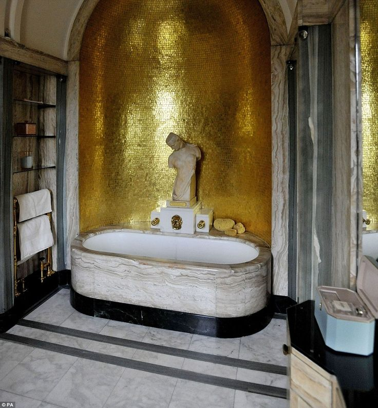 Luxury: Visitors will also be able to examine Virginia Courtauld's stunning bathroom at Eltham Palace when it reopens following its makeover