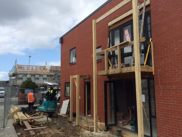 Construction of the modern family houses at the new Auckland development in Hobsonville Point - 10 September 2015