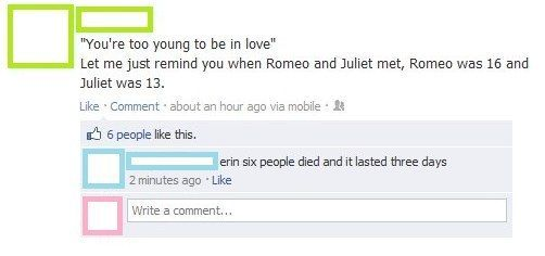 This really important discussion of romance. | The 23 Greatest Things That Have Ever Happened On Facebook