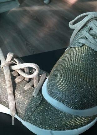 Reno Turnschuhe Sneaker 36 Gold Glitzer NEU