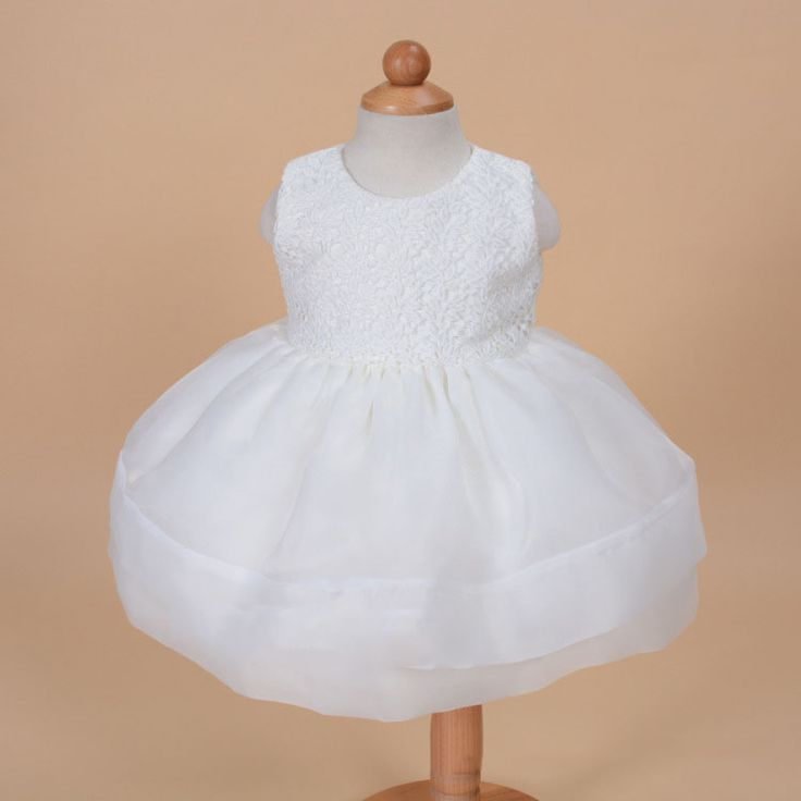 >> Click to Buy << new baby flower girl dress with hat sleeveless white pink red princess dress for baby girl birthday wear #Affiliate
