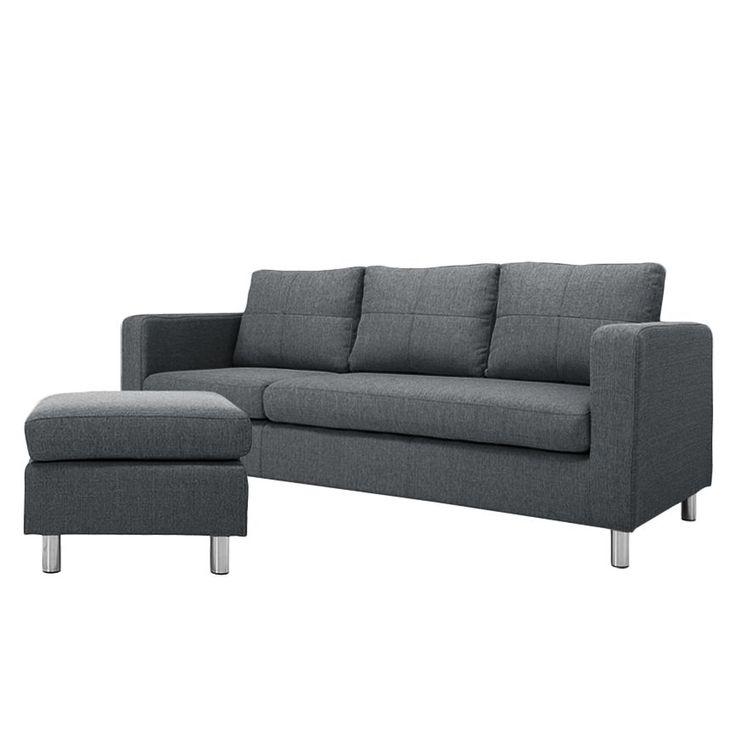 Sofa Wyke 3 Sitzer Mit Hocker Webstoff