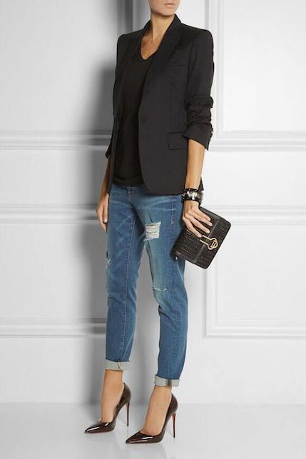 Simple modern classic minimal outfit