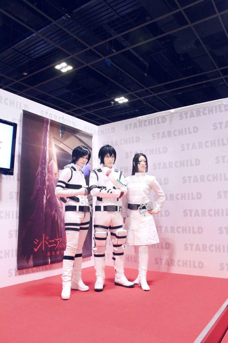 Knights Of Sidonia  Izana Shinatose (科戸瀬 イザナ) : YUEGENE FAY Nagate Tanikaze (谷風 長道):Kaname Captain Kobayashi (小林艦長):Reika Photo: https://www.facebook.com/pages/Yuegene-Fay-FanClub-