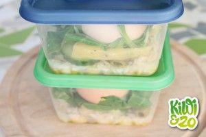 Snelle salade om mee te nemen