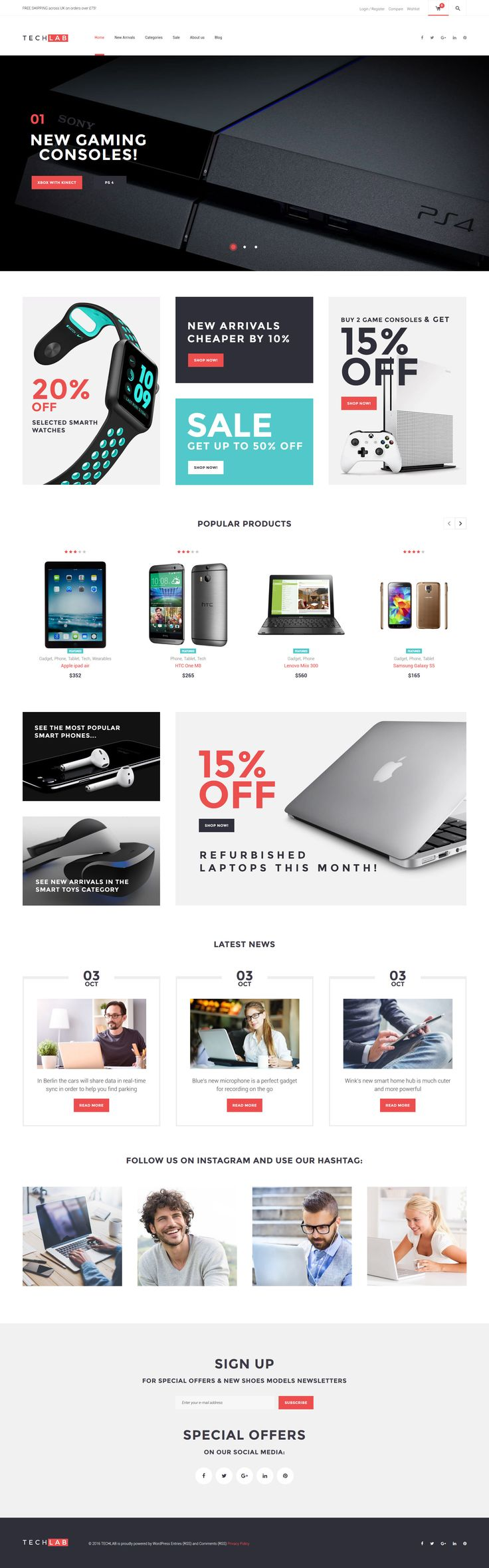 TechLab - Innovative Electronics Store WooCommerce Theme - http://www.templatemonster.com/woocommerce-themes/61303.html
