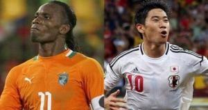Didier Drogba actualmente juega en el Galatasaray de Turquía. Costa de Marfil vs Japón.  June 14, 2014.