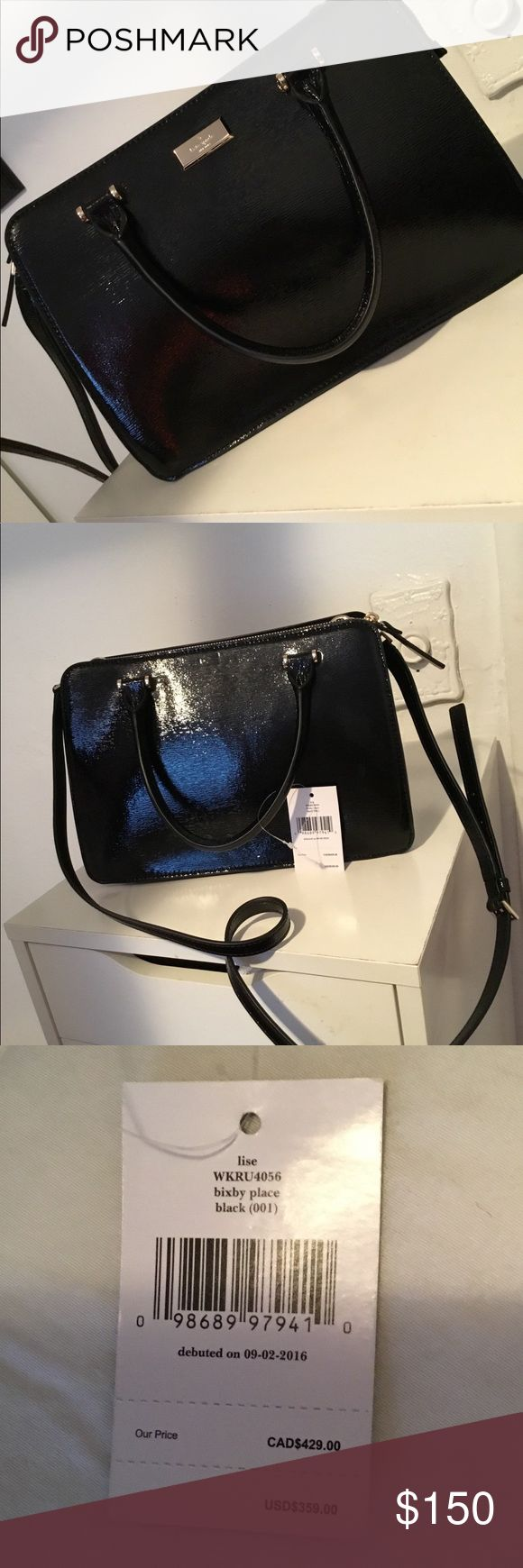"""Kate Spade Black Leather """"Bixby Place"""" Brand New. Never used. Beautiful black leather purse. kate spade Bags Crossbody Bags"""