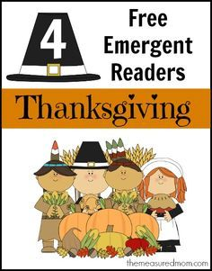 "Thanksgiving Emergent Readers (sight word ""for"") - The Measured Mom"
