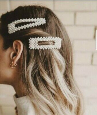 2pcs Pearl Metal Hair Clip Hairband Comb Bobby Barrette Hairpin Headdress 2019 #fashion #clothing #shoes #accessories