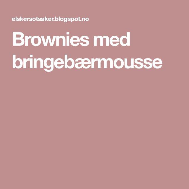 Brownies med bringebærmousse