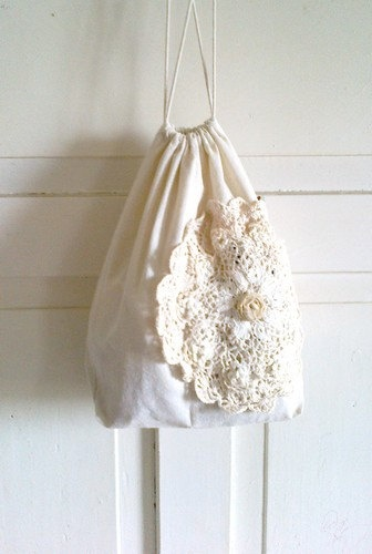 Gift bag Cotton bag Lingerie bag Shabby Chic by recyclingroom, $30.00