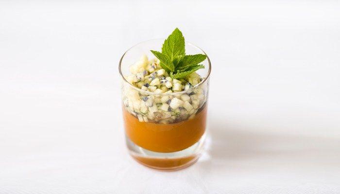 Belly Jelly – Mango-Gelee mit Vermouth, Ananas und marokkanischer Minze