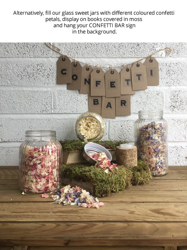 How To Create A Confetti Bar – Step By Step Guide available to buy online from @theweddingomd
