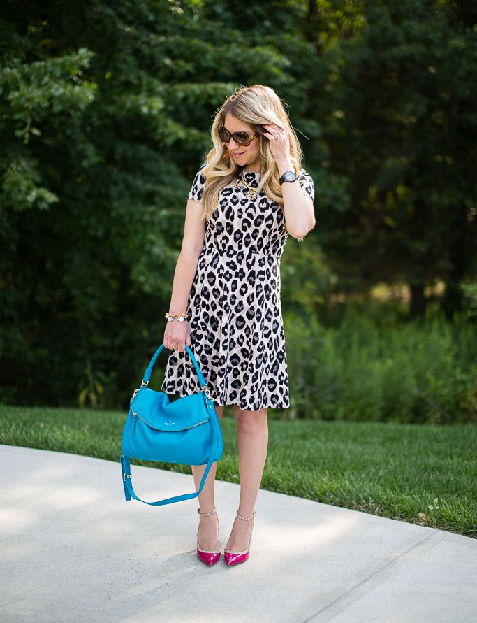 Yes, you can wear a leopard dress to work....click through to see how I did it.