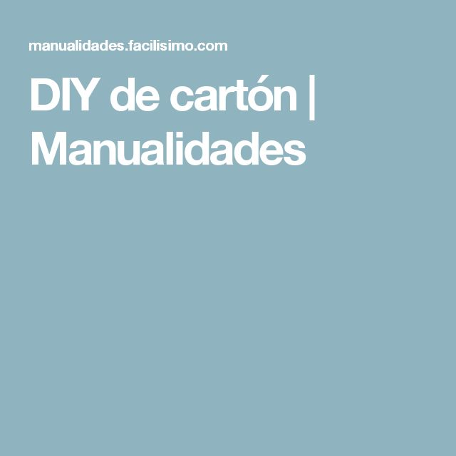 DIY de cartón | Manualidades