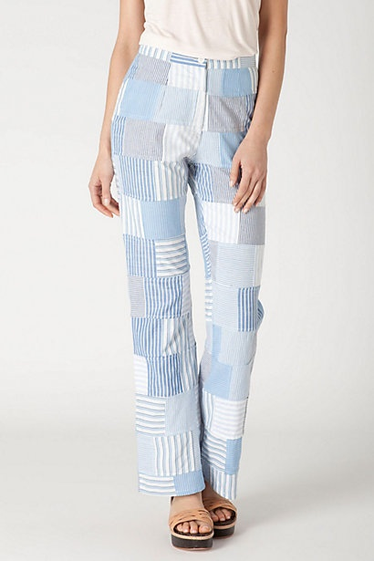 Another winner. Seriously, people. Who wears this??? Patched Shirting Trousers #anthropologie