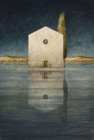Ana Kapor ~ Notturno, dittico, 2011 (oil)