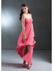 Sheath Sweetheart High Low-length Chiffon Bridesmaid Dress