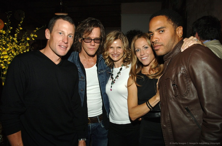 Lance Armstrong, Kevin Bacon, Kyra Sedgwick, Sheryl Crow and Lenny Kravitz