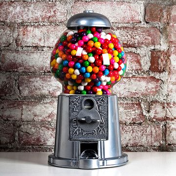 Tall Silver Gumball Machine, $58, now featured on Fab.