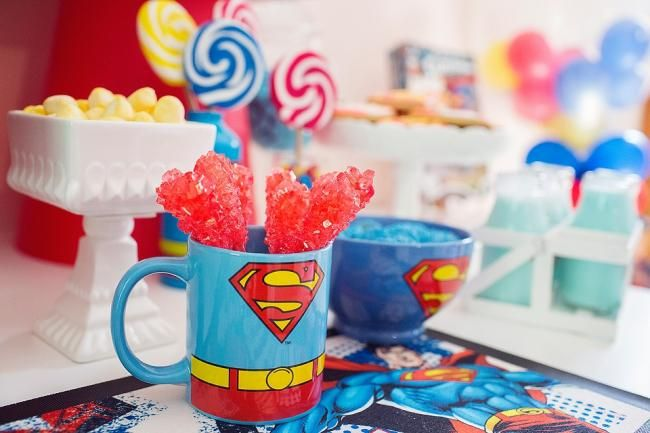 boys superman party candy