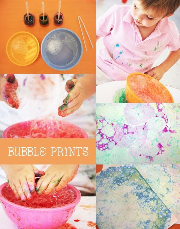 Bubble Prints | contributed by @Yin-wen Chen hands big art #kids #crafts