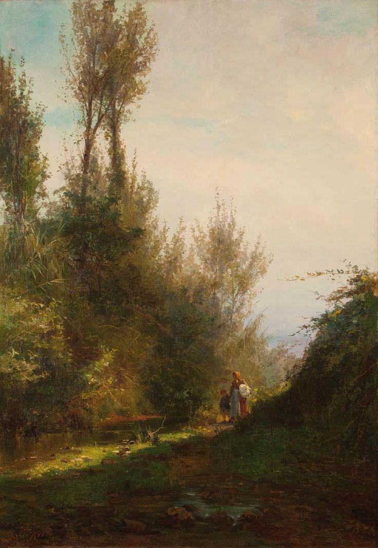 ALFREDO KEIL - Paisagem Óleo sobre tela - 1881