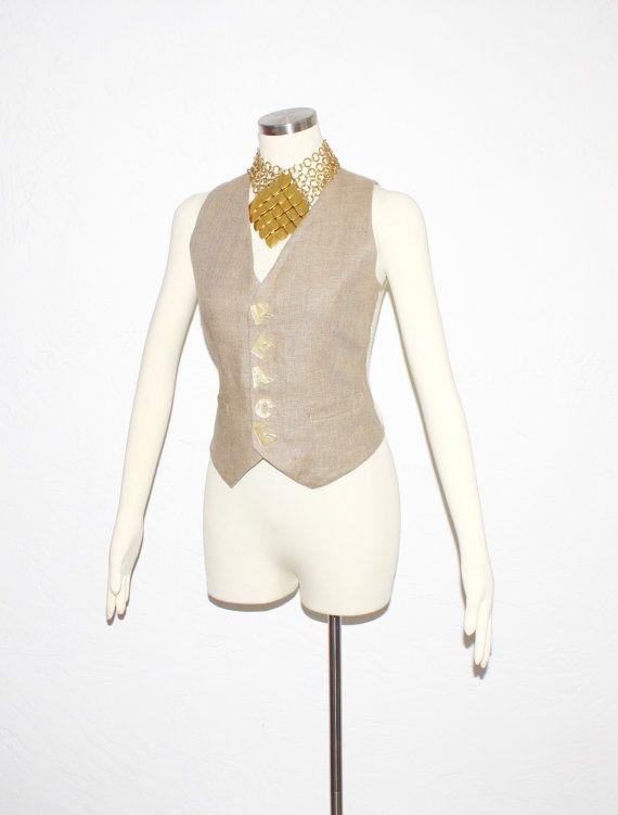 Vintage MOSCHINO Cheap & Chic pace lino maglia gilet - autentico