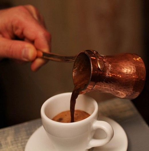 Turkish Coffee. It is famous for its unique preparation method and taste. #coffeerecipes #coffeedrinks #coffeelove #coffeelover #turkishcoffee #greekcoffee