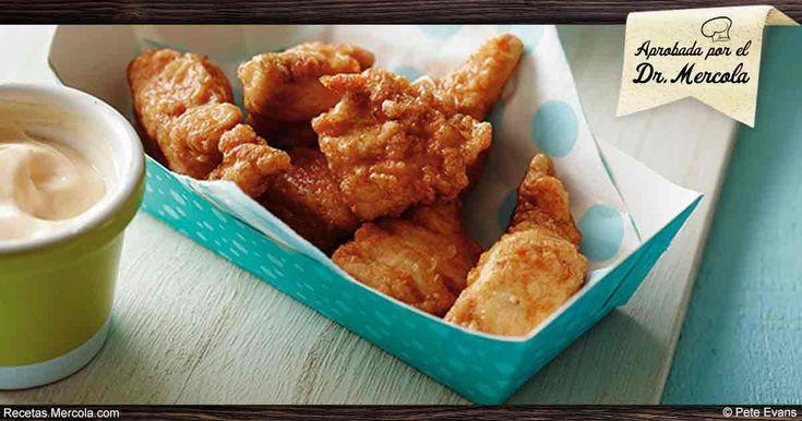 No se conforme con los nuggets de pollo de la comida rápida; mejor pruebe esta receta para preparar nuggets de pollo en casa – un giro saludable a la botana favorita de muchos. https://recetas.mercola.com/receta-nuggets-de-pollo-caseros.aspx