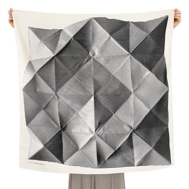 Contemporary Furoshiki designs by Link // Folded Paper Furoshiki by Lucinda Newton Dunn