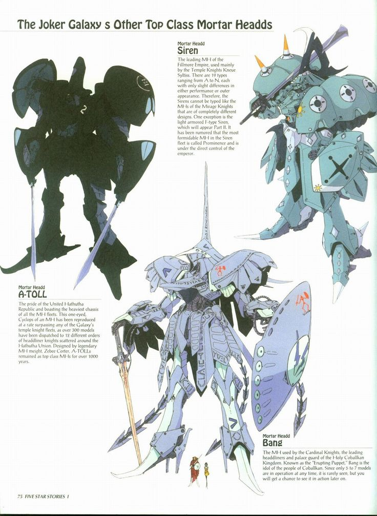 'Mortar Headds' from the anime/manga 'Five Star Stories'