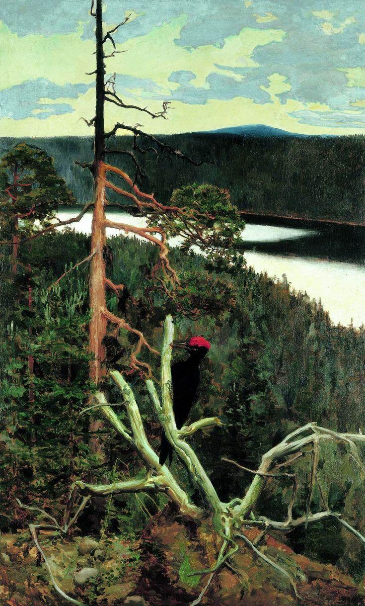 The Great Black Woodpecker Akseli Gallen-Kallela - 1892-1893