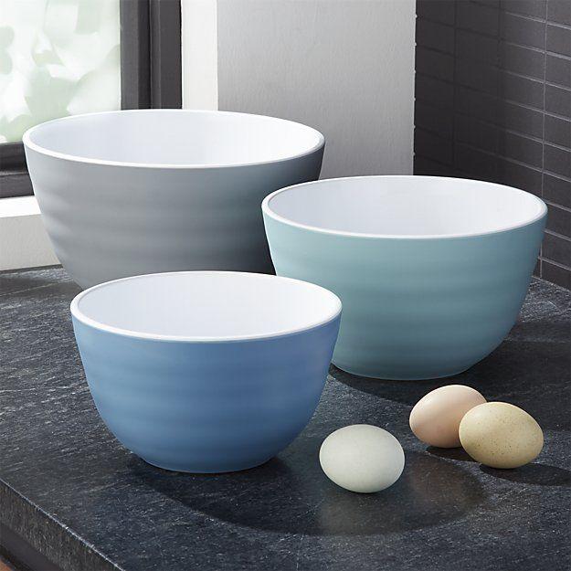 Destin Melamine Mixing Bowls Set Of 3 Reviews Crate And Barrel Melamine Mixing Bowls Mixing Bowls Melamine Bowls