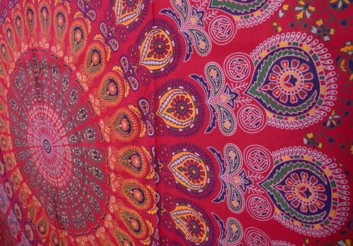 Wall Art – Indian Mandala Bedspread Tapestry – a unique product by IndianCraftPalace on DaWanda