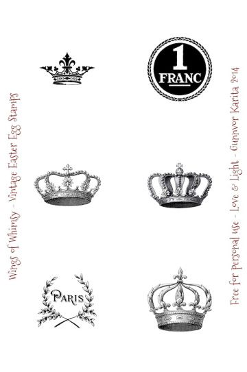 Wings of Whimsy: Easter Egg Postzegels - gratis VOOR Persoonlijk use of # vintage # efemere # printbare # freebie # pasen