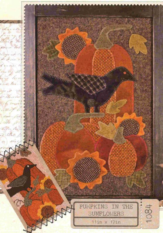 Primitive Quilting Pattern  Pumpkins In The by PrimitiveQuilting, $9.00