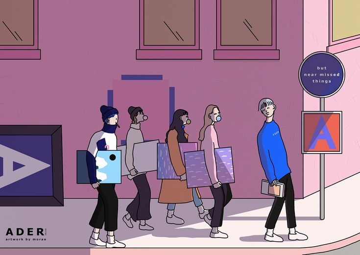 ADERerror Contemporary Minimalism Illustrations Animation with Shin mo-rae 'But near missed things'