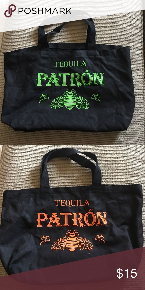 Patron tequila bag Black Patron Tequila bag like new Bags Totes