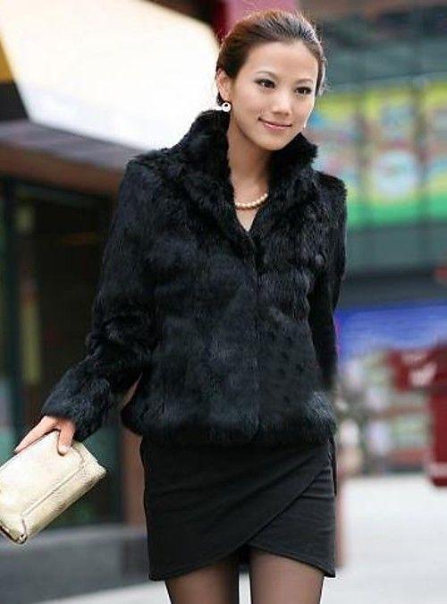9ca405ea0b Women's Winter Short Fur Coat, Solid Colored Stand Long Sleeve Faux Fur  Formal Style White / Black 4XL / XXXXXL / XXXXXXL 2019 - US $39.99