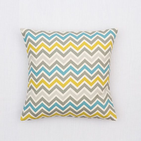 YELLOW GREY Pillow Cover.Decorator Pillow by lookherejane on Etsy