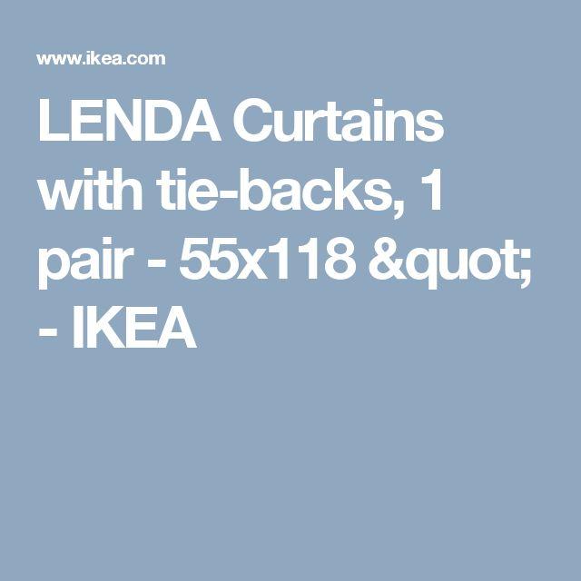 """LENDA Curtains with tie-backs, 1 pair - 55x118 """"  - IKEA"""