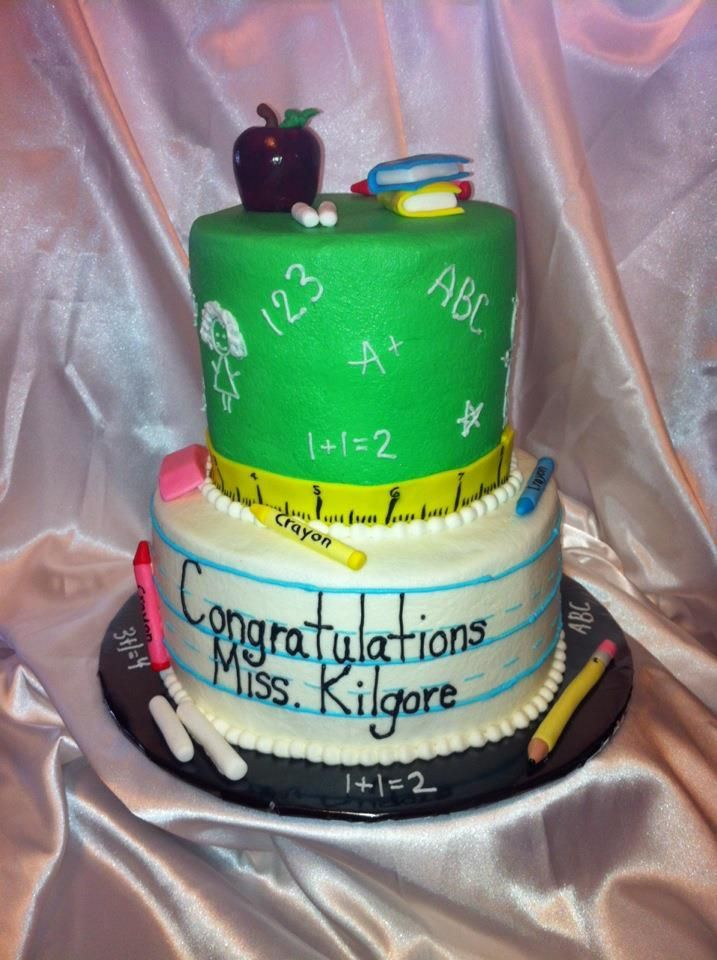 My cake for my college graduation party! Looked very cute and tasted very yummy!