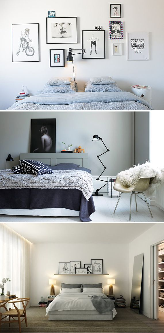 Interior design: take away gallery styled walls, with asymmetric layout or with a shelf...