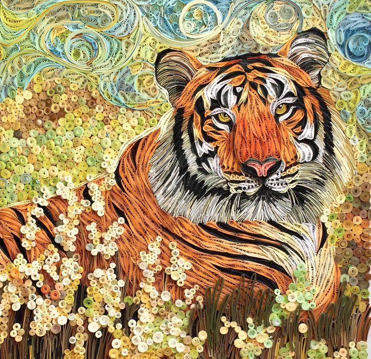 #quilling paper #tiger #tranhobao